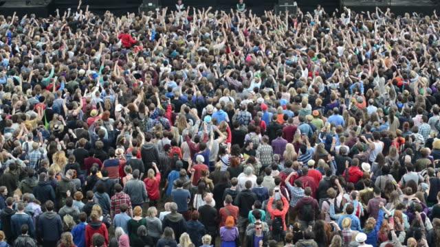 Crowds attending summer festival