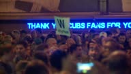 WGN Crowds Celebrate Outside Wrigley Field After Chicago Cubs Beat St Louis Cardinals in Chicago on October 13 2015