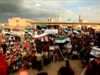 Crowds chanting during the Syrian uprising