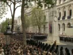 Crowds gather at the cenotaph and are lead by HRH Queen Elizabeth II in two minutes silence on Remembrance Sunday
