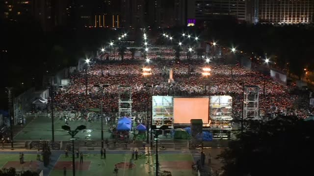 Crowds gather for Hong Kong's commemoration of the bloody Tiananmen Square crackdown but many young activists turn their backs on the candlelit vigil...