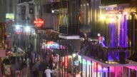 WGNO Crowds Hit Bourbon Street Before Super Bowl XLVII on January 29 2013 in New Orleans Louisiana