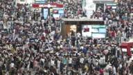 Crowds in Shanghai Hongqiao Railway Station
