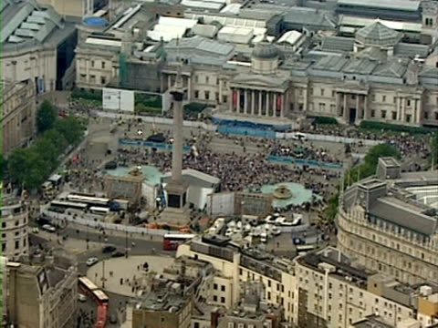 Crowds in Trafalgar Square at event to mark 1 year to go til 2012 Olympics