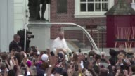 Crowds lined the streets of Philadelphia in hopes of seeing Pope Francis