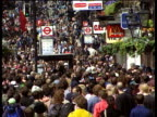 Crowds of anticapitalist demonstrators smash windows of shops and fast food restaurants 01 May 00