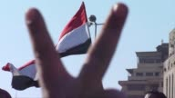 Crowds of protesters began massing in central Cairo for a sixth day of angry revolt against Hosni Mubarak's regime Sunday amid increasing lawlessness...