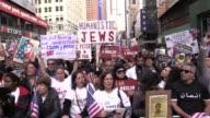 Crowds shout 'Donald Trump Has Got To Go' Times Square
