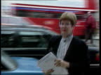 Glidewell report LIB Dame Barbara Mills along from car towards cabinet office