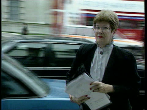 Glidewell report LIB ENGLAND London Dame Barbara Mills along from car towards cabinet office Crown Prosecution Service Int Mills sitting in meeting...