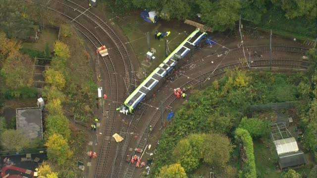 First victim named AIR VIEW Overturned tram