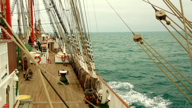 cruise on an old sailing ship