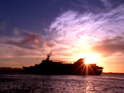 Cruise Ship at Sunset - NTSC