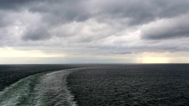 Cruise Ship Ferry Wake
