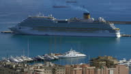 Cruise ship in harbour, Palma de Mallorca, Majorca, Balearic Islands, Spain