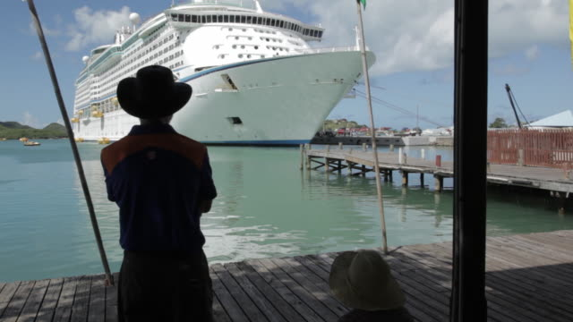 Cruise Ship in Port, St John's, Antigua and Barbuda, Caribbean