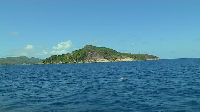 Cruising on Sea Praslin Seychelles