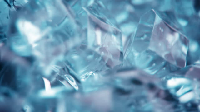 Crystal ice cube spinning background