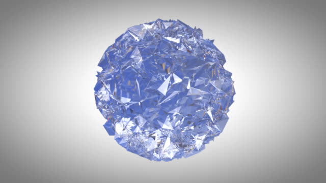 Crystal ice sphere spinning background-HD