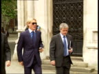 Crystal Palace chairman arrives at High Court to contest lawsuit against former manager ENGLAND London High Court EXT Simon Jordan along to court