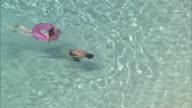 AERIAL Crystal-clear Water Beach On Tokashiki Island, Okinawa