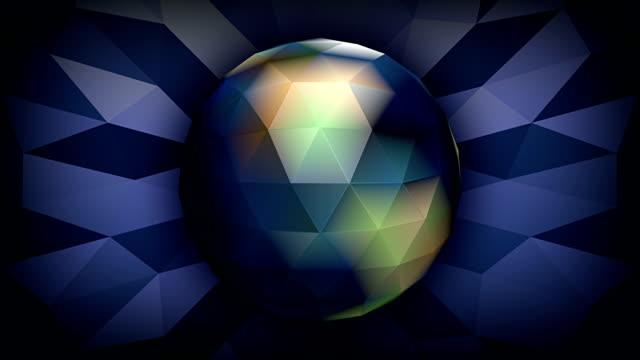 Crystalized design of globe. HD loop.