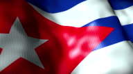 Cuba Flag waving, looping