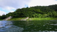 Cuba Tourism and Travel: Ecotourism in Hanabanilla Lake or Dam. Beautiful Natural Reserve in the Tropical Caribbean Island.