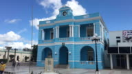 Old vintage colonial building revitalized and used as Provincial Museum in Las Tunas city The landmark is an important tourist attraction in the city
