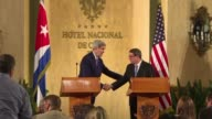 Cuban Foreign Minister Bruno Rodriguez repeats the islands demand that the United States lift a blockade that has crippled the economy after reciving...