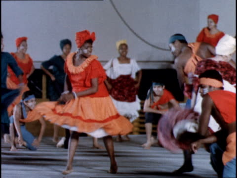 Cuban students give a traditional dance concert