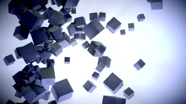 cube particle cloud black