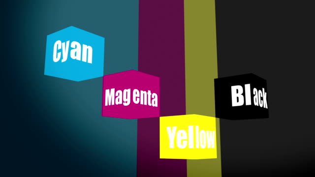 CMYK cubes of four-color printing