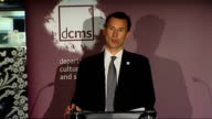 Culture Secretary Jeremy Hunt speech on media policy Jeremy Hunt speech SOT In an age of localism we have virtually no local TV stations in our major...