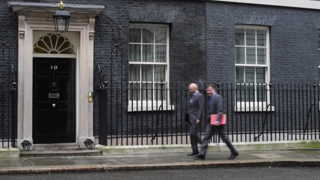 Culture Secretary Sajid Javid arrives at Downing Street before a cabinet meeting on December 1 2015 in London England Prime Minister David Cameron...