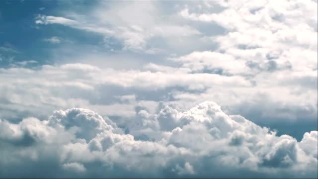 Cumulonimbus clouds in stomy sky