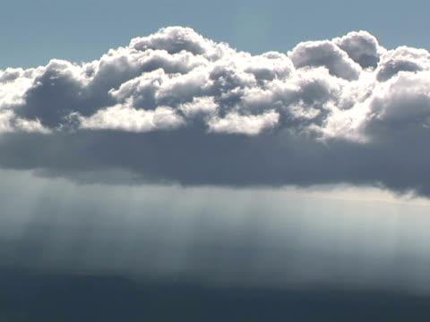 MS cumulus clouds and sunbeams