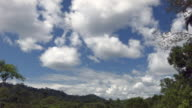 Cumulus clouds forming over rainforest in the Ecuadorian Amazon
