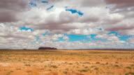 T/L 8K Cumulus clouds over the desert of Utah