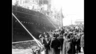 1901 Cunard Mail Steamer Lucania Leaving For America