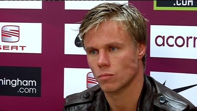 Aston Villa press conference Martin Laursen press conference SOT