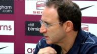 Aston Villa press conference Martin O'Neill press conference continued