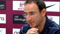 Aston Villa press conference Martin O'Neill press conference