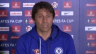 Build up to semifinal games FA Cup Build up to semifinal games ENGLAND Surrey Cobham INT Antonio Conte press conference SOT