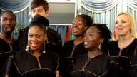 FA Cup Final preview INT General views and close ups of gospel choir singing 'Abide with me' SOT