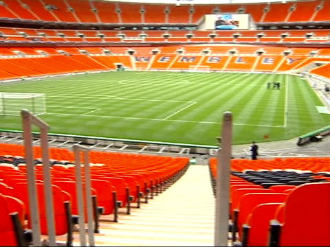 FA Cup Final to return to Wembley Stadium in May 2007 R17030701 General views of pitch and stands inside new Wembley Stadium INT General view of...