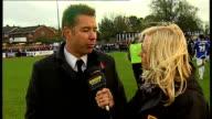 Hornchurch v Peterborough Darren Ferguson interview ENGLAND Hornchurch Bridge Lane EXT Darren Ferguson interview SOT Reporter to camera