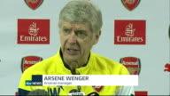 preview ENGLAND Hertfordshire London Colney INT Arsene Wenger press conference SOT
