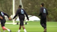 Manchester City training ENGLAND Manchester Carrington Training Centre EXT Manchester City players training including Stephen Ireland Ched Evans...