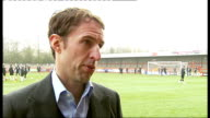 Preview of Crawley Town v Manchester United DAY / RAINING Sergio Torres interview SOT Gareth Southgate speaking to Torres Gareth Southgate interview...